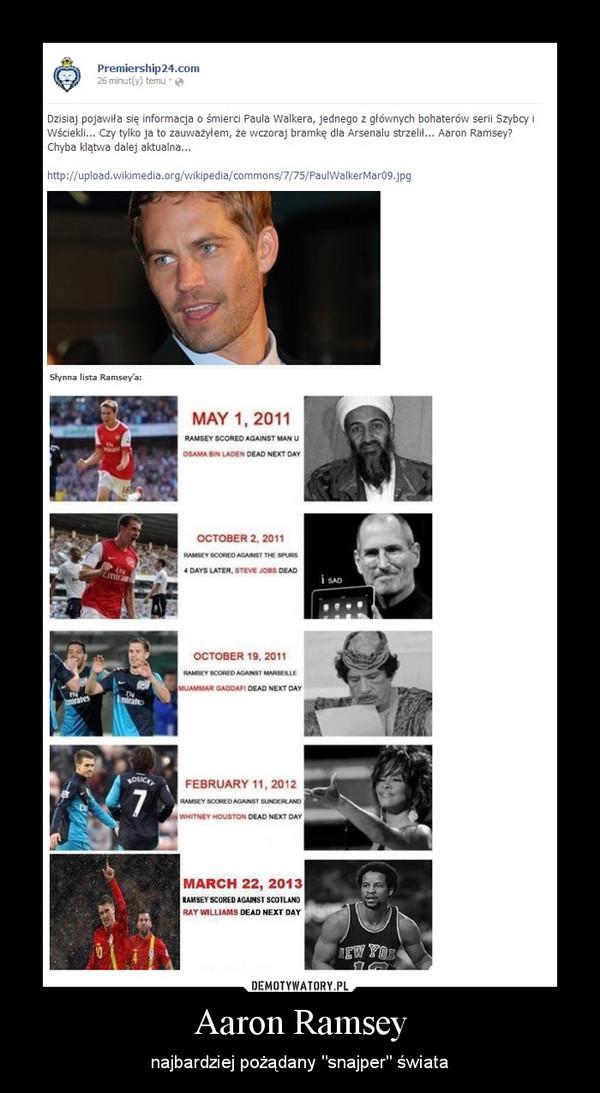 """Aaron Ramsey – najbardziej pożądany """"snajper"""" świata"""