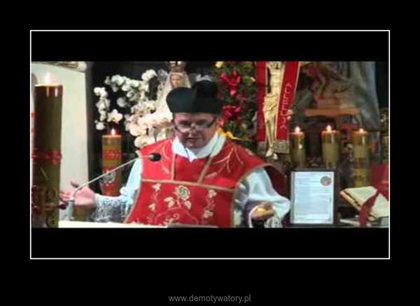 Ksiądz Piotr Natanek jak zwykle trafnie –