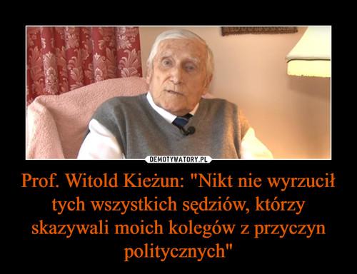 """Prof. Witold Kieżun: """"Nikt nie wyrzucił tych wszystkich sędziów, którzy skazywali moich kolegów z przyczyn politycznych"""""""