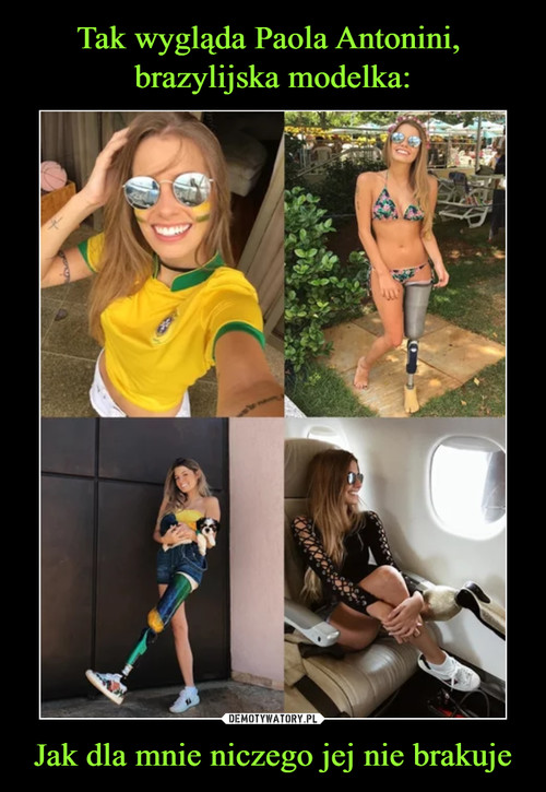 Tak wygląda Paola Antonini,  brazylijska modelka: Jak dla mnie niczego jej nie brakuje