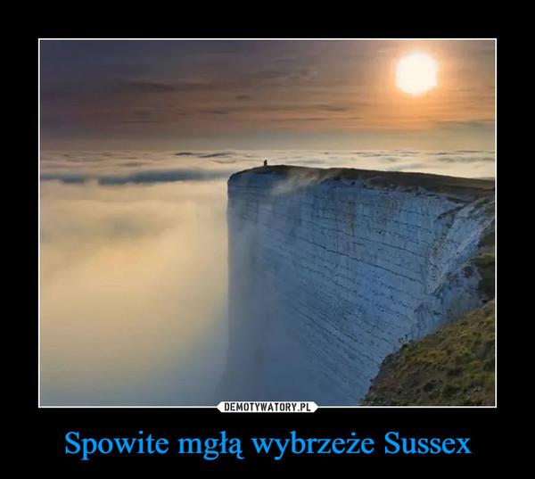 Spowite mgłą wybrzeże Sussex –