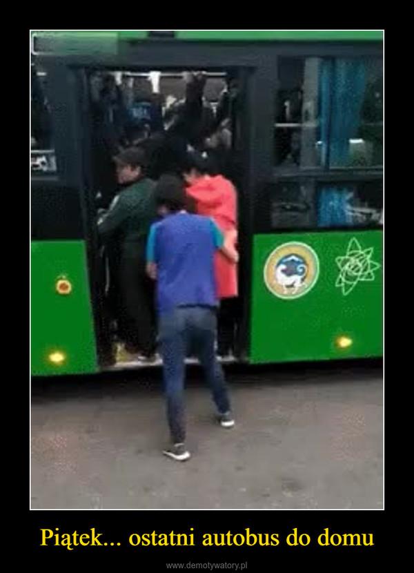 Piątek... ostatni autobus do domu –