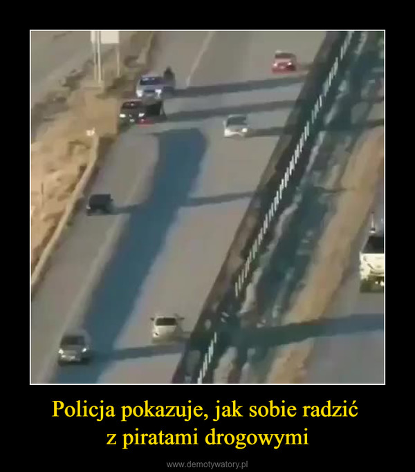 Policja pokazuje, jak sobie radzić z piratami drogowymi –