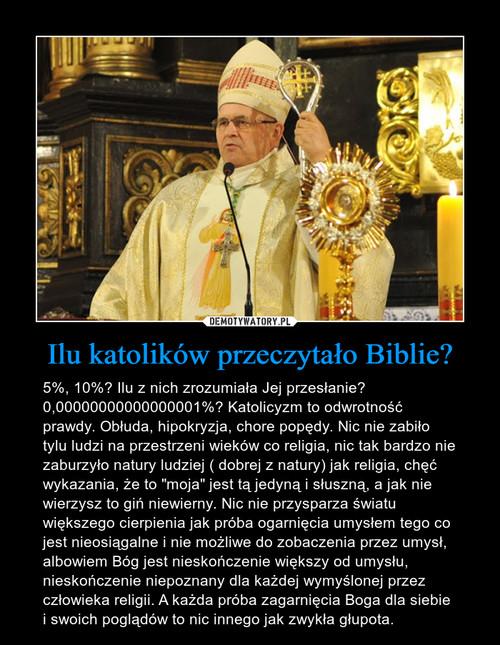 Ilu katolików przeczytało Biblie?