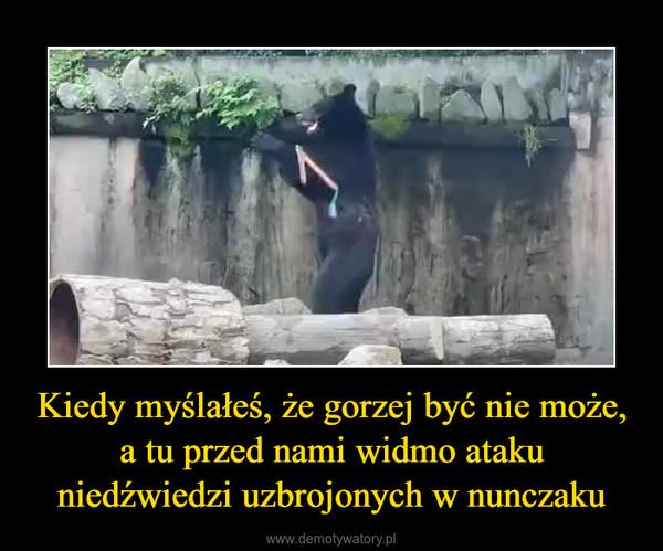 Kiedy myślałeś, że gorzej być nie może, a tu przed nami widmo ataku niedźwiedzi uzbrojonych w nunczaku –