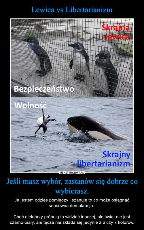 Lewica vs Libertarianizm Jeśli masz wybór, zastanów się dobrze co wybierasz.