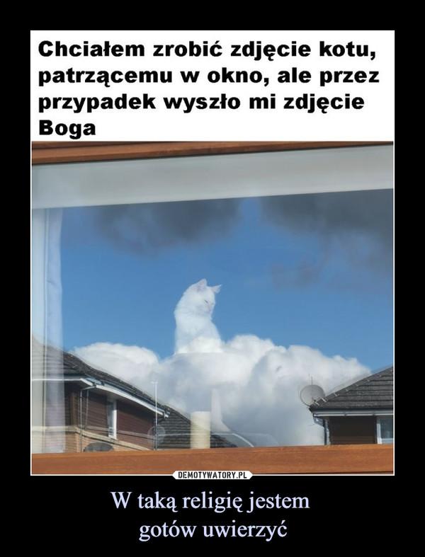 W taką religię jestem gotów uwierzyć –  Chciałem zrobić zdjęcie kotu,patrzącemu w okno, ale przezprzypadek wyszło mi zdjęcieBoga