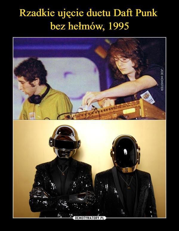 Rzadkie ujęcie duetu Daft Punk  bez hełmów, 1995