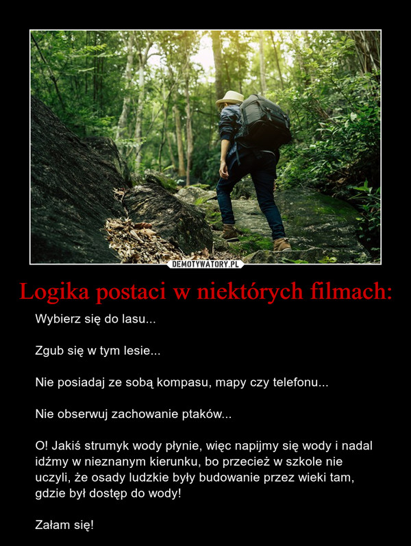 Logika postaci w niektórych filmach: