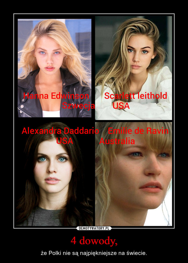 4 dowody, – że Polki nie są najpiękniejsze na świecie.