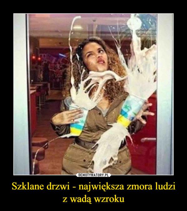 Szklane drzwi - największa zmora ludzi z wadą wzroku –
