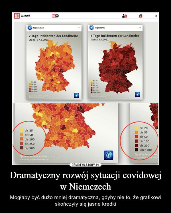Dramatyczny rozwój sytuacji covidowej w Niemczech – Mogłaby być dużo mniej dramatyczna, gdyby nie to, że grafikowi skończyły się jasne kredki