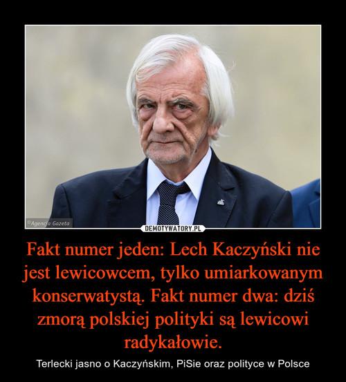 Fakt numer jeden: Lech Kaczyński nie jest lewicowcem, tylko umiarkowanym konserwatystą. Fakt numer dwa: dziś zmorą polskiej polityki są lewicowi radykałowie.