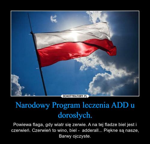 Narodowy Program leczenia ADD u dorosłych.