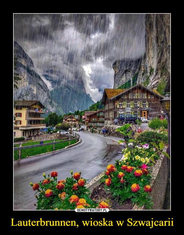 Lauterbrunnen, wioska w Szwajcarii –