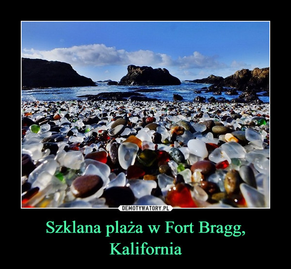 Szklana plaża w Fort Bragg, Kalifornia –