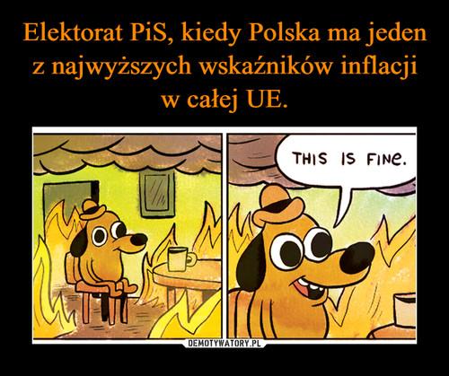 Elektorat PiS, kiedy Polska ma jeden z najwyższych wskaźników inflacji w całej UE.