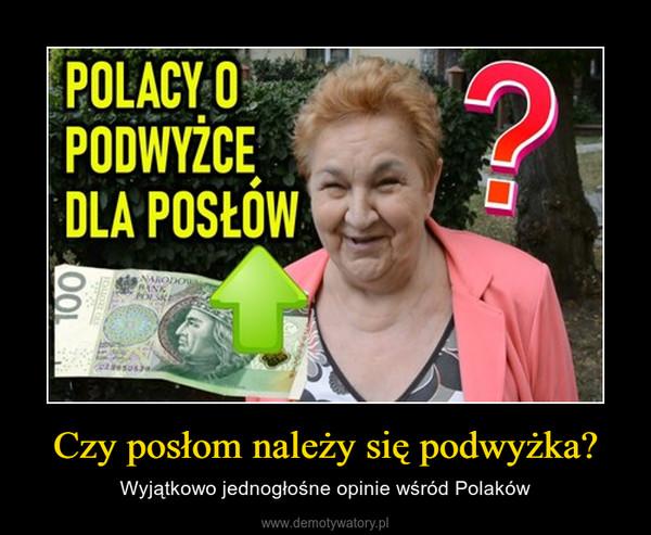 Czy posłom należy się podwyżka? – Wyjątkowo jednogłośne opinie wśród Polaków