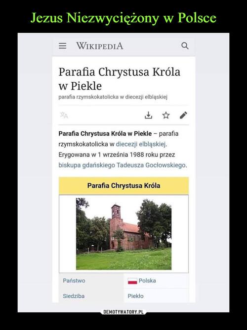 Jezus Niezwyciężony w Polsce