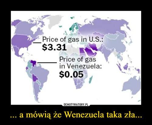 ... a mówią że Wenezuela taka zła...